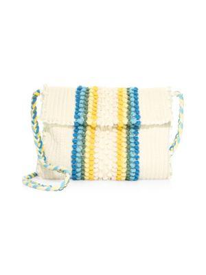 ANTONELLO TEDDE Suni Rombi Crossbody Bag in Blue Ivory