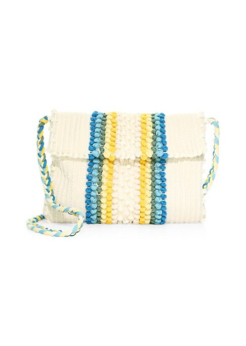 "Image of EXCLUSIVELY AT SAKS. Beautifully textured crochet clutch with braided strap is vintage-inspired. Strap drop, about 18"".Magnetic-flap closure. Interior flap pocket.11""W x 9""H x 1""D.Organic cotton. Made in Italy."