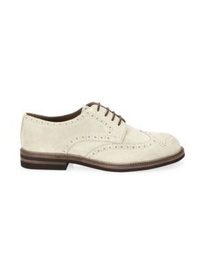 Classic Suede Brogues by Brunello Cucinelli