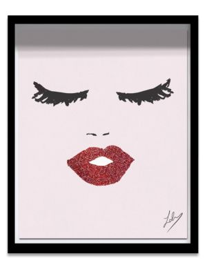 Oliver Gal Framed Fashionista Face Print