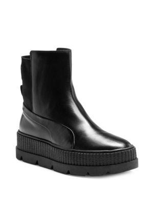 d6f48da924b4 Puma Women S Fenty X Rihanna Chelsea Sneaker Boot From Finish Line In Black