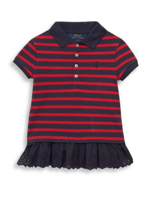 Toddlers Striped Polo Top