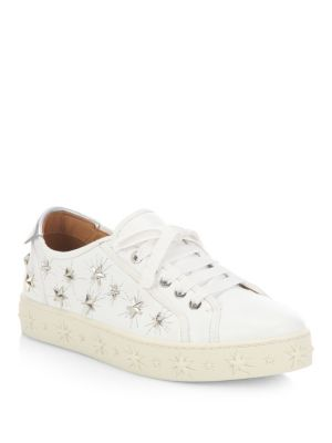 Cosmic Star Leather Sneakers by Aquazzura