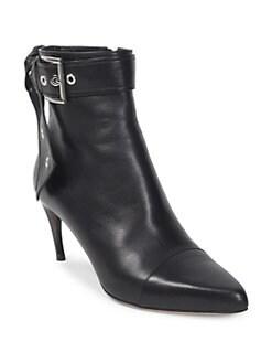 Alexander McQueen - Leather Buckle Booties