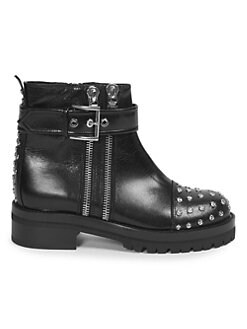 Alexander McQueen - Studded Leather Combat Boots