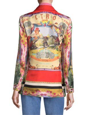ETRO Silks Circus Printed Blazer