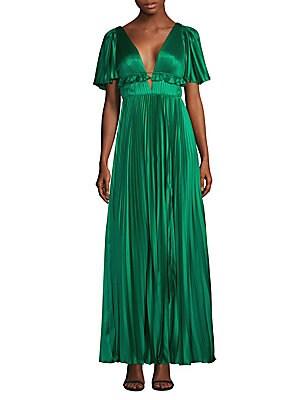 9c4f8b95f8f AMUR - Ivy Pleated Gown - saks.com