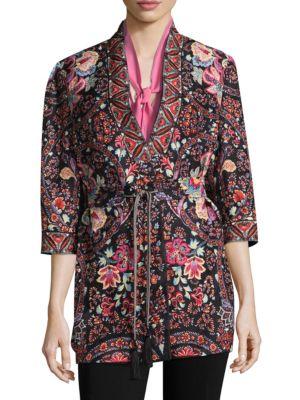 Etro Silks Garden Paisley Open Jacket
