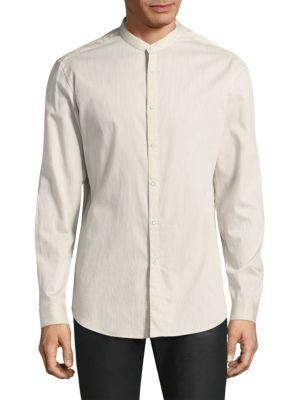 JOHN VARVATOS Pinstripe Slim-Fit Button-Down Shirt