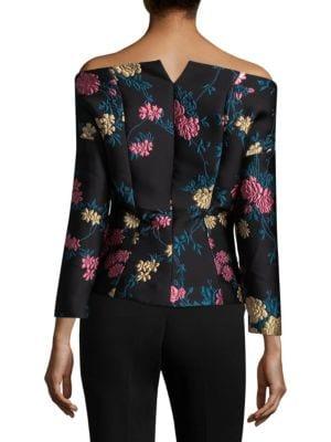 ETRO Silks Off-The-Shoulder Brocade Jacket