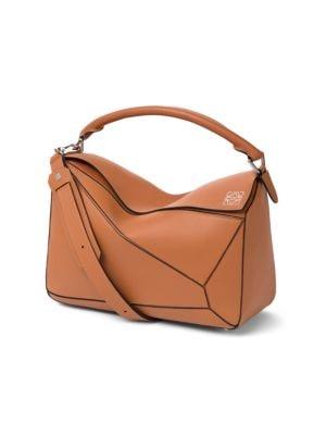 Loewe Women's Puzzle Leather Bag In Tan