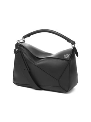 Large Puzzle Leather Bag by Loewe