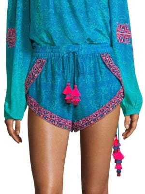 Rococo Sand Shorts Beaded Tassel Shorts