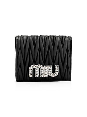 4d32deb18241 Miu Miu - Nappa Crystal Embellished Metallic Leather Shoulder Bag ...