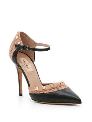 Rockstud Mary Jane Leather Pumps by Valentino Garavani