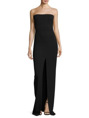 Bysha Stretch-Crepe Maxi Dress, Black