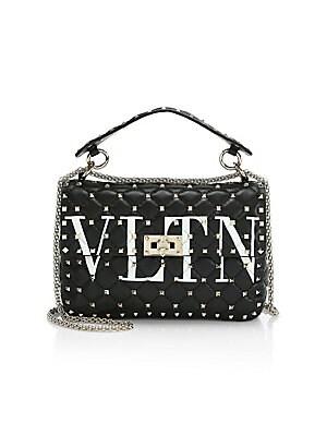 6ce84b5308 Valentino Garavani - Medium Rockstud Spike VLTN Leather Shoulder Bag -  saks.com