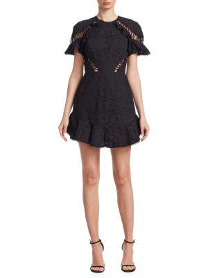 Zimmermann  Lace-Up Eyelet Dress