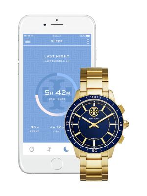 Tory Burch Collins Hybrid Stainless Steel Bracelet Smart Watch