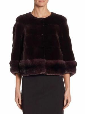 The Fur Salon Mink Chinchilla Jacket