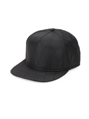 GENTS Chairman Quilted Baseball Cap in Black
