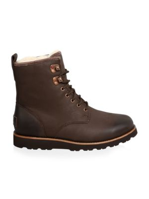 Hannen Leather Combat Boots by Ugg