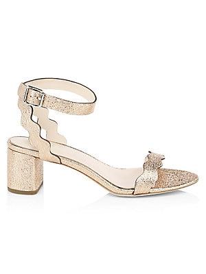 f62406ce0c8 Loeffler Randall - Emi Scallop Leather Block Heel Sandals
