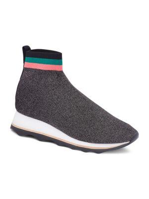 Scout Knit Sock Sneakers - Gray Size 11 in Black/Silver/Multi
