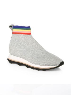 Scout Knit Platform Sneaker in Grey Rainbow