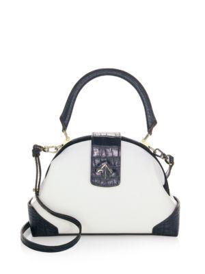Manu Atelier  Demi Leather & Suede Satchel