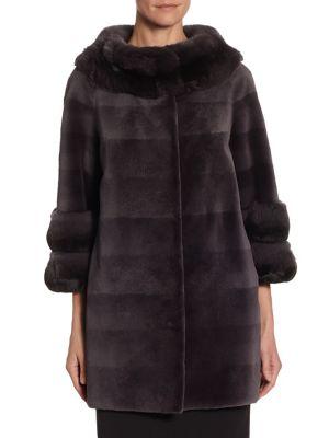 The Fur Salon Sheared Mink & Chinchilla Jacket