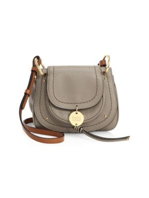 Susie Mini Leather Saddle Bag by See By Chloé