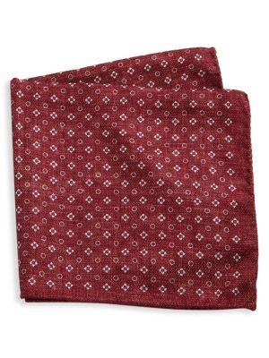 Saks Fifth Avenue  COLLECTION Silk Floral & Polka Dot Pocket Square