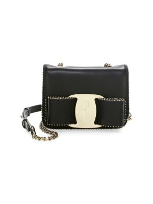 Mini Vara Studded Leather Shoulder Bag - Black, Nero/ Bonbon