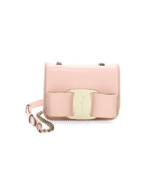 Salvatore Ferragamo Mini Vara Studded Leather Shoulder Bag - Pink ... e44092ab28c43