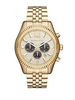 7f76c6a81a36 QUICK VIEW. Michael Kors. Lexington Stainless Steel Chronograph Bracelet  Watch