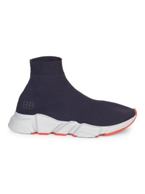 Men'S Speed Mid-Top Trainer Sock Sneakers, Acier