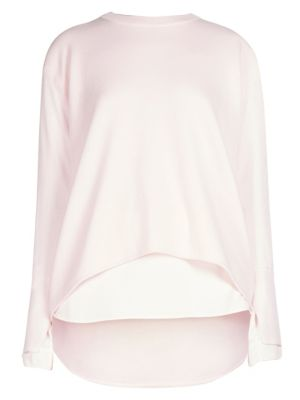 Cédric Charlier Asymmetric Hem Sweater - Pink