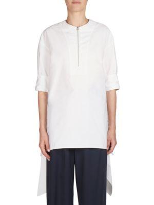 Cédric Charlier Heavy Zipped Shirt - White