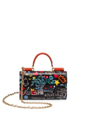 0c72cbbb9b8d Dolce   Gabbana Graphic Leather Phone Bag In Mura Print