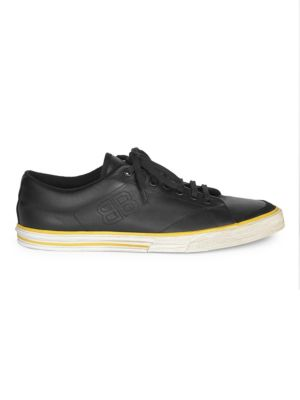 Match Tennis Distressed Leather Sneakers, White from MR PORTER