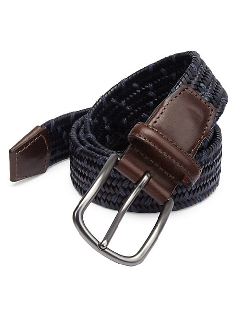 COLLECTION Tonal Woven Leather Belt