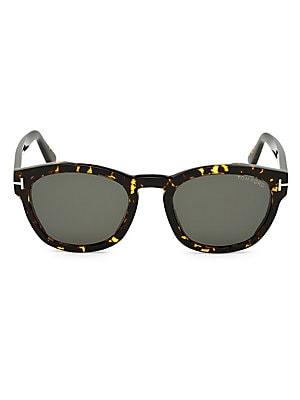540bb3dcc5 Tom Ford - 51MM Bryan Round Tortoise Shell Sunglasses - saks.com