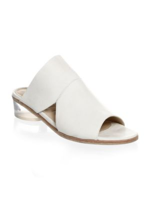 Ld Tuttle Peep Toe Leather Mules
