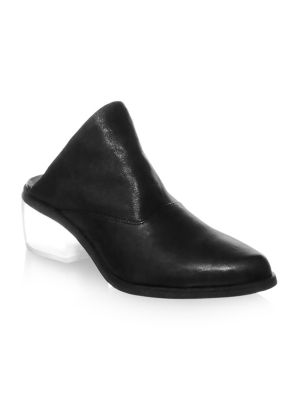 LD TUTTLE Point Toe Leather Mules in Black