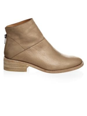 LD TUTTLE Zip Leather Booties in Quarry
