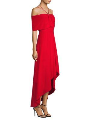 Yigal Azrouël Off-The-Shoulder Halter Dress