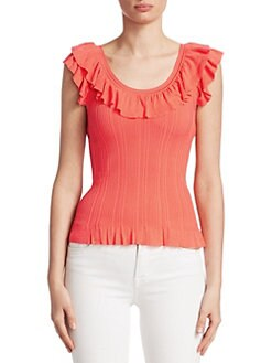 b810cd9fee269 Saks Fifth Avenue. COLLECTION Ruffle-Trim Ribbed Tank Top