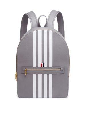 cbf5253adf Thom Browne Classic Leather Backpack In Grey