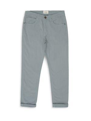 Boys Slim Leg Double Roll Cuff Sateen Pants